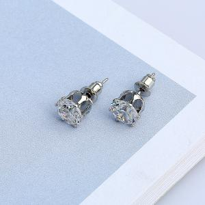 Artificial Diamond Stud Earrings -