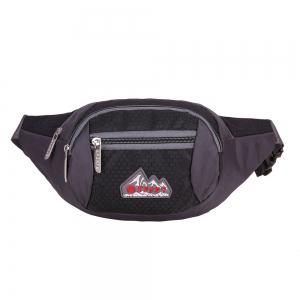 Sports Multifunctional Nylon Waist Bag - BLACK
