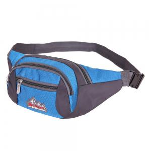 Sports Multifunctional Nylon Waist Bag - MEDIUM BLUE