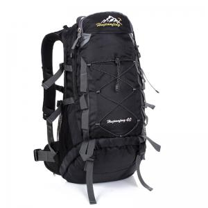 Nylon 40L Mountaineering Backpack - Black