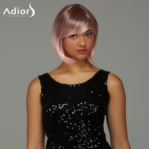 Adiors Short Bob Gradient Side Bang Party Synthetic Wig