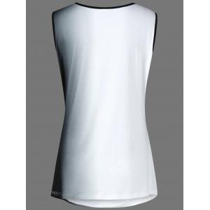 Scoop Neck Ruched Ombre Plus Size Top - WHITE 3XL