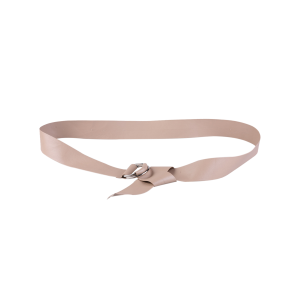 Outside Wear Adjustable PU Leather Belt - Nude - 39