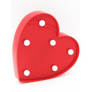 Love Heart Shaped Confession Gift LED Night Light - RED