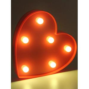 Love Heart Shaped Confession Gift LED Night Light - Red - 9.5*7*5cm
