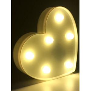 Love Heart Shaped Confession Gift LED Night Light