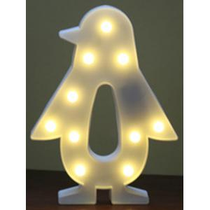 Cartoon Penguin Room Decoration LED Night Light - WHITE