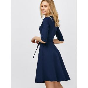 Double Breasted Belted Dress Vintage - Azuré L