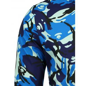 Patch Camo Jacket with Pocket Detail - BLUE XL