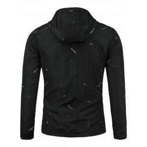 Graphic Print Hooded Wind Jacket -