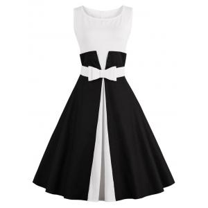 Color Block Cocktail Pin Up Dress