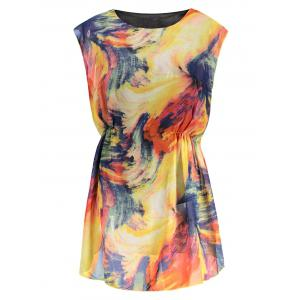 Tie Dye Mini Chiffon Dress