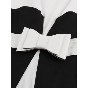 Color Block Cocktail Pin Up Dress - BLACK XL