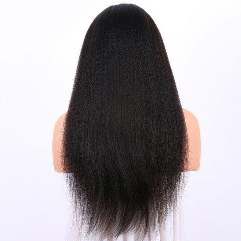 Shop Long Yaki Straight Lace Frontal Synthetic Wig - BLACK  Mobile