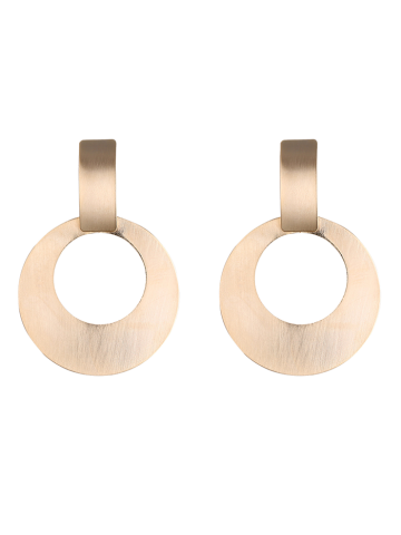 Chic Alloy Vintage Circle Drop Earrings GOLDEN