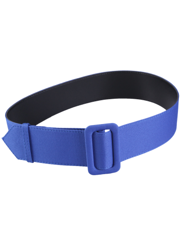 Buy Fabric Panel Adjustable Extra Wide PU Leather Belt - BLUE  Mobile