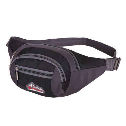 Buy Sports Multifunctional Nylon Waist Bag BLACK