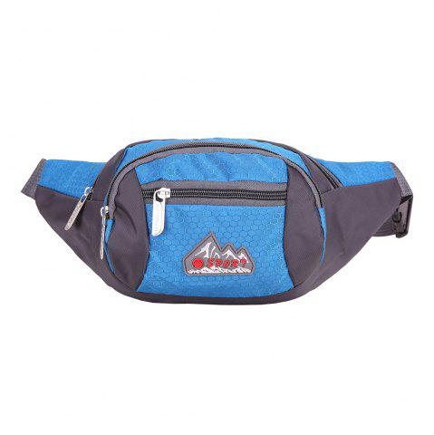 Unique Sports Multifunctional Nylon Waist Bag - MEDIUM BLUE  Mobile