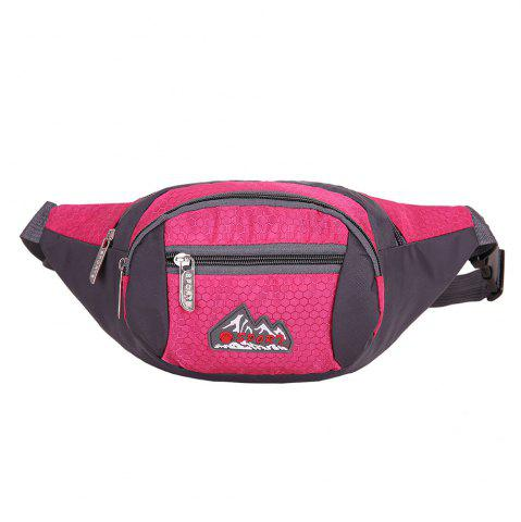 Shops Sports Multifunctional Nylon Waist Bag - ROSE MADDER  Mobile