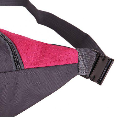 Hot Sports Multifunctional Nylon Waist Bag - ROSE MADDER  Mobile