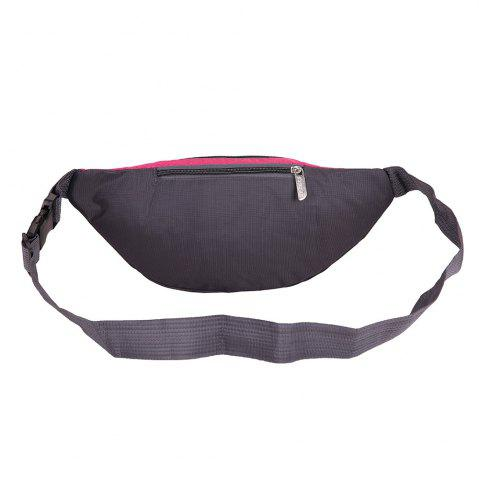 New Sports Multifunctional Nylon Waist Bag - ROSE MADDER  Mobile