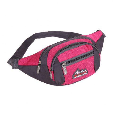 Outfits Sports Multifunctional Nylon Waist Bag - ROSE MADDER  Mobile