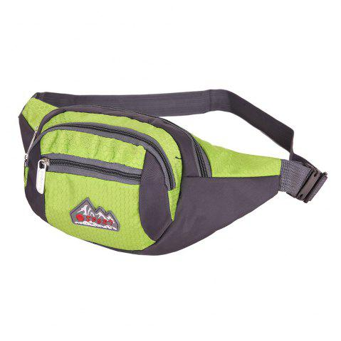 Trendy Sports Multifunctional Nylon Waist Bag - PISTACHIO  Mobile