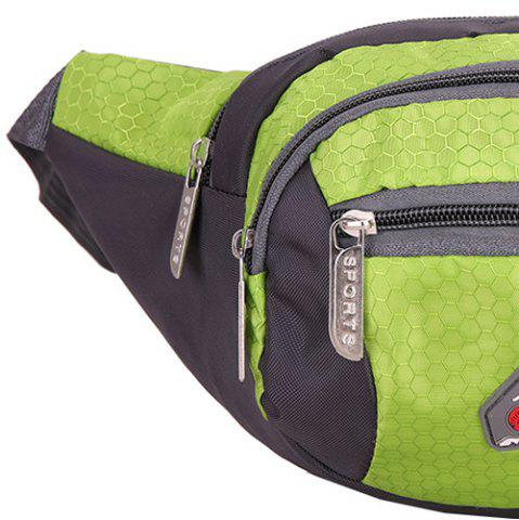 Shop Sports Multifunctional Nylon Waist Bag - PISTACHIO  Mobile