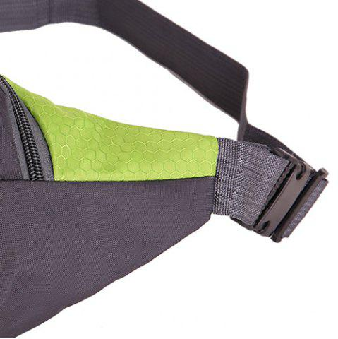 Hot Sports Multifunctional Nylon Waist Bag - PISTACHIO  Mobile