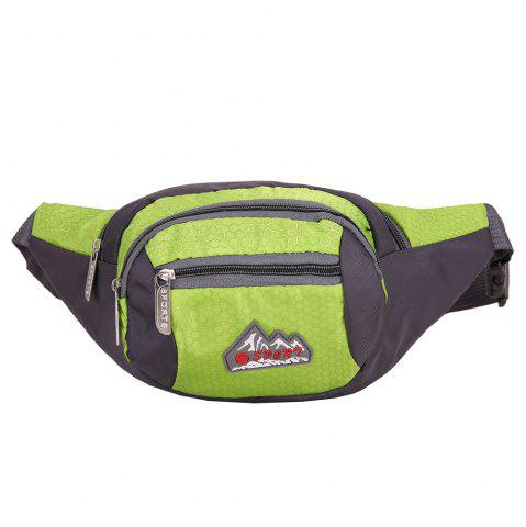 Sports Multifunctional Nylon Waist Bag - Pistachio - 40