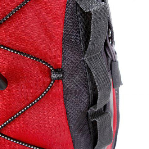 Hot Nylon 40L Mountaineering Backpack - RED  Mobile
