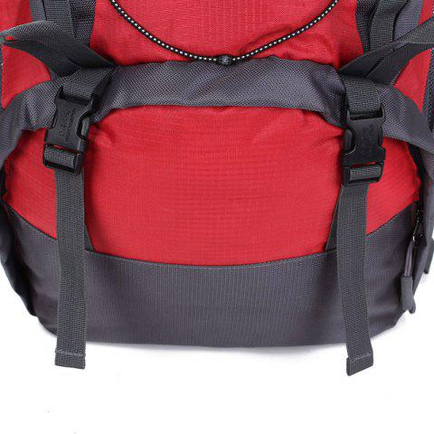 Store Nylon 40L Mountaineering Backpack - RED  Mobile