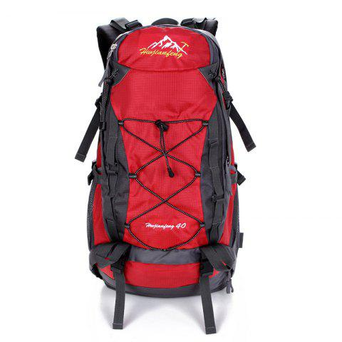 Latest Nylon 40L Mountaineering Backpack RED