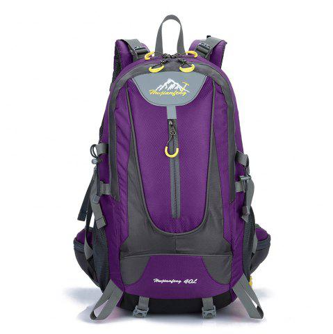 Hot Waterproof 40L Mountaineering Backpack - PURPLE  Mobile