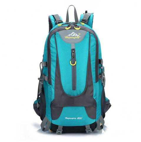 Discount Waterproof 40L Mountaineering Backpack LAKE BLUE