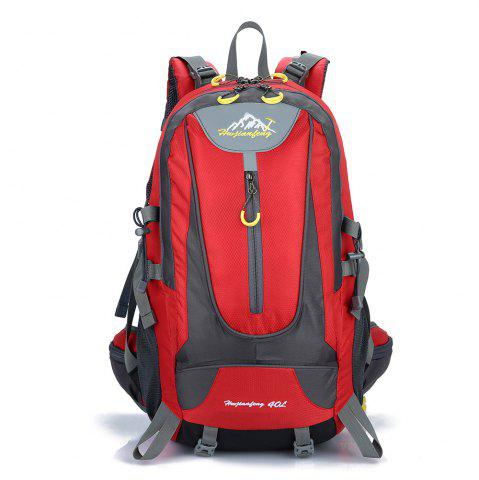New Waterproof 40L Mountaineering Backpack - RED  Mobile