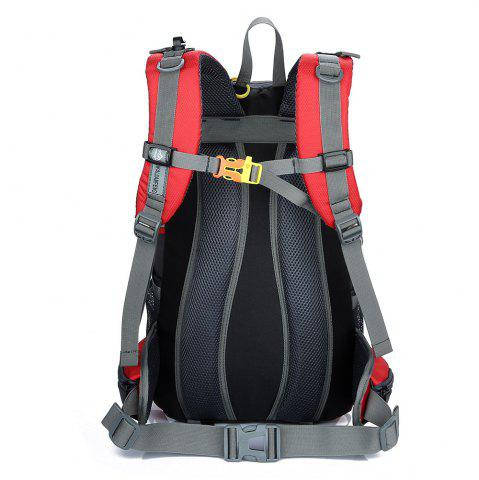 Cheap Waterproof 40L Mountaineering Backpack - RED  Mobile