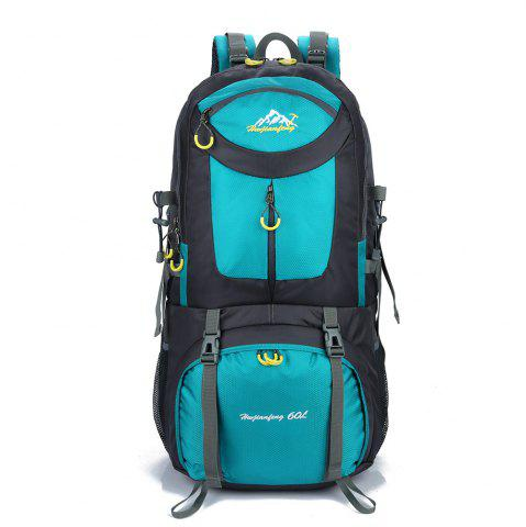 Waterproof 60L Mountaineering Backpack - Lake Blue - 40
