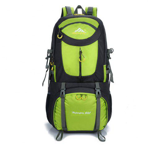 Sale Waterproof 60L Mountaineering Backpack CELADON