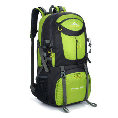 Online Waterproof 60L Mountaineering Backpack - CELADON  Mobile