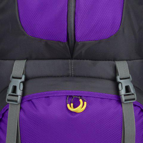 Store Waterproof 60L Mountaineering Backpack - PURPLE  Mobile