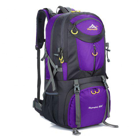 Affordable Waterproof 60L Mountaineering Backpack - PURPLE  Mobile