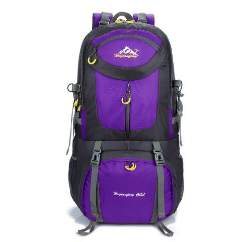 Latest Waterproof 60L Mountaineering Backpack - PURPLE  Mobile