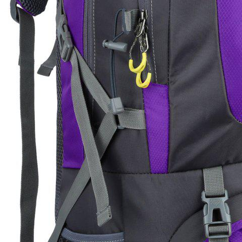 Outfit Waterproof 60L Mountaineering Backpack - PURPLE  Mobile