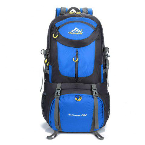 Affordable Waterproof 60L Mountaineering Backpack - BLUE  Mobile