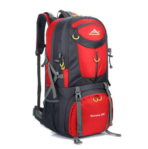 Shops Waterproof 60L Mountaineering Backpack - RED  Mobile