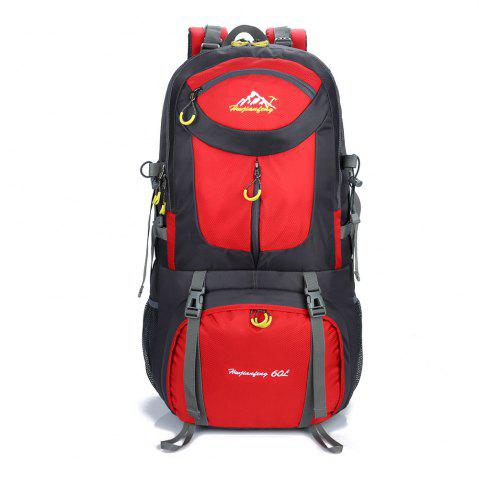 Store Waterproof 60L Mountaineering Backpack - RED  Mobile