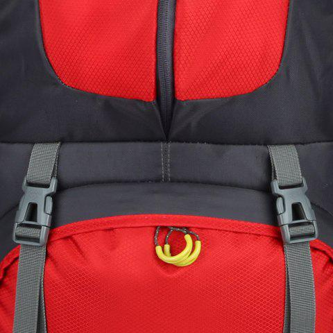 Online Waterproof 60L Mountaineering Backpack - RED  Mobile