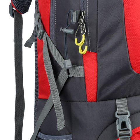 Discount Waterproof 60L Mountaineering Backpack - RED  Mobile