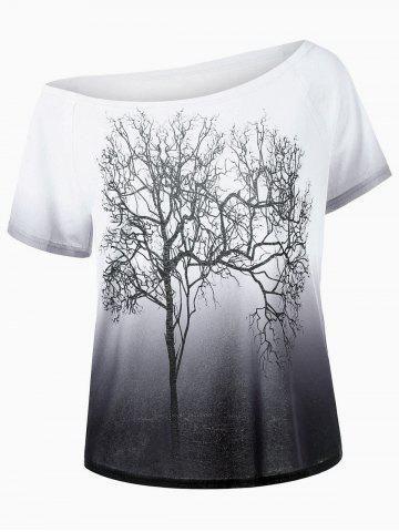 blanc et noir arbre de collier skew imprimer t shirt ombre. Black Bedroom Furniture Sets. Home Design Ideas